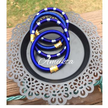 Picture of Silk Thread Bangles (different color options)