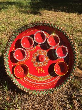 Amukta home d cor for Aarti thali decoration with clay