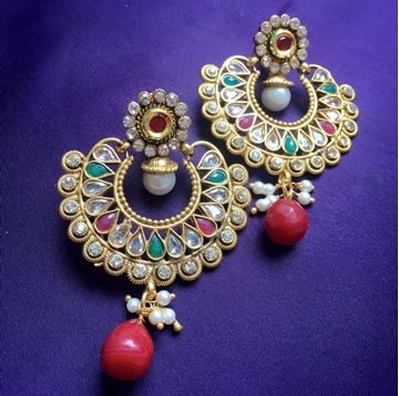 Picture of Gold Ram-Leela Earring