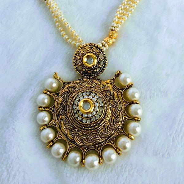 Amukta golden pearl necklace golden pearl necklace aloadofball Gallery