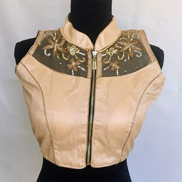 Picture of Golden saree blouse