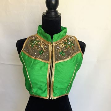 Picture of Green saree blouse