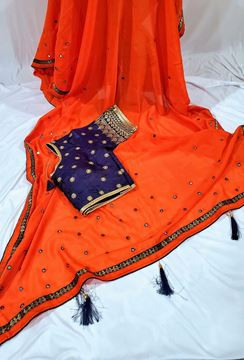Picture of Orange saree