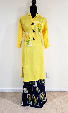 Picture of Yellow plazo set