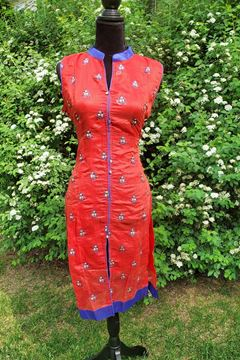 Picture of Red cotton kurta